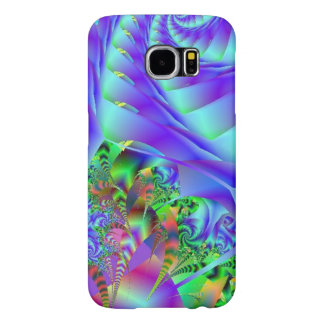 Blue Swirls With Colorful Floral Abstract