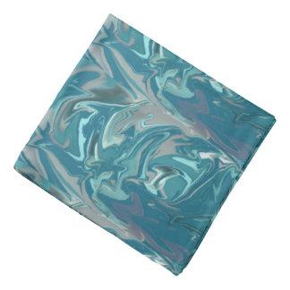 Blue swirly abstract Tye Dye Bandana