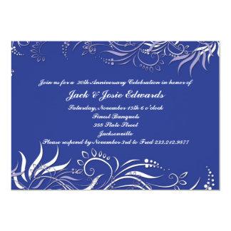 Blue Swirly Anniversary Invitation