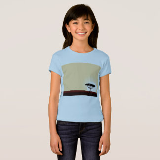 Blue t-shirt with Exotic trees