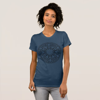 Blue t-shirt with mandala