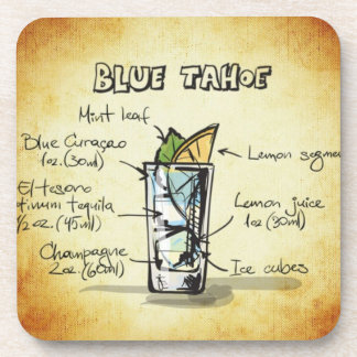 Blue Tahoe Drink Recipe Coaster