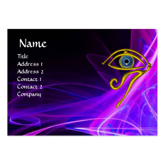 BLUE TALISMAN IN PINK PURPLE WHITE LIGHT WAVES BUSINESS CARD