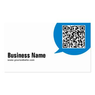 Blue Talk Bubble Mixologist Business Card