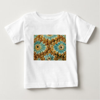 blue tan design of shapes baby T-Shirt