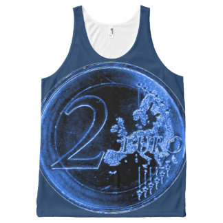 Blue Tank with German Anniversary 2 EUR Coin 2015
