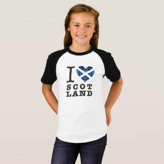 Blue Tartan Heart - Love Scotland T-Shirt