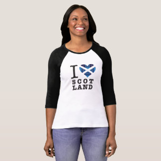Blue Tartan Heart - Love Scotland T-Shirt