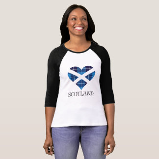 Blue Tartan Heart T-Shirt