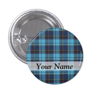 Blue tartan plaid buttons
