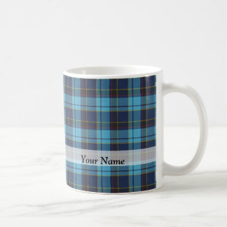 Blue tartan plaid mugs