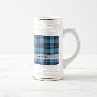 Blue tartan plaid coffee mugs