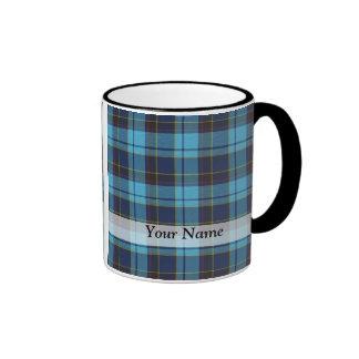 Blue tartan plaid coffee mug