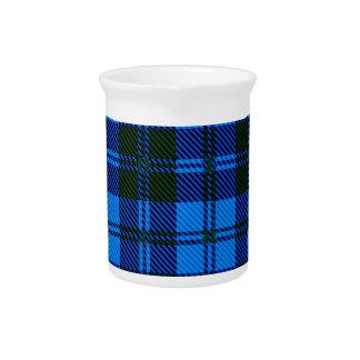 Blue Tartan Wool Material Pitcher
