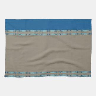 blue tea towel