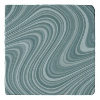 Blue/Teal Abstract Pattern Trivet