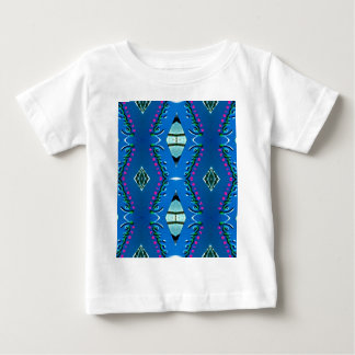 Blue Teal Magenta 'Venice' Tribal Pattern Baby T-Shirt