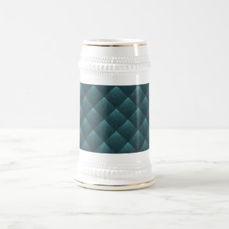 Blue Teal Quilted Elegant Fashion Fabric Pattern Coffee Mug