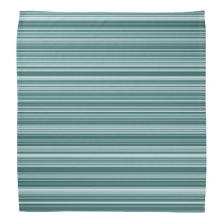 Blue Teal Striped Bandana