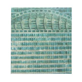 blue teal tiles notepad