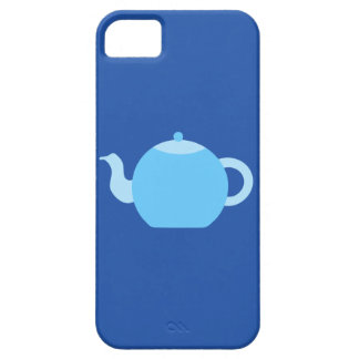 Blue Teapot on Navy Background. iPhone 5 Covers