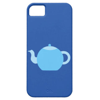 Blue Teapot on Navy Background. iPhone 5 Cover