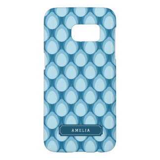 Blue Teardrop Pattern Personalize with Name