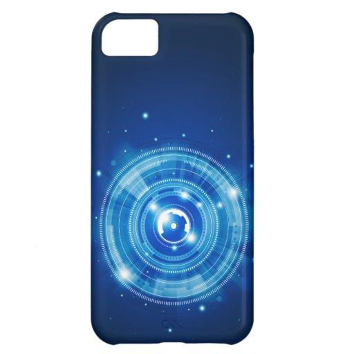 Blue tech design case for iPhone 5C
