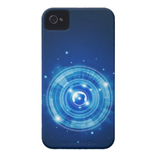 Blue tech design Case-Mate iPhone 4 case