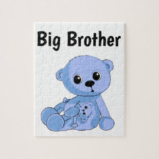 Blue Teddy Bear Puzzle Personalize