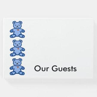 Blue teddy bears border