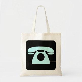 Blue Telephone Budget Tote Bag