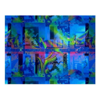 """Blue Temple"" UV Art Postcard"