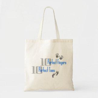 Blue Ten Perfect Fingers & Toes Bag