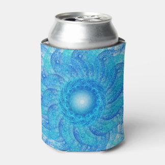 Blue Tentacles Fractal Can Cooler