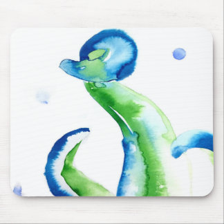 Blue Tentacles Mouse Pad