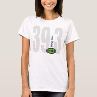 Blue text: 39.3 - Bling fiend T-Shirt