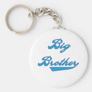 Blue Text Big Brother Basic Round Button Key Ring