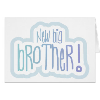 Blue Text New Big Brother Card