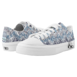 Blue texture Custom Zipz Low Top Shoes