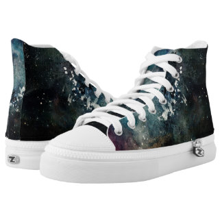 Blue Texture High Tops