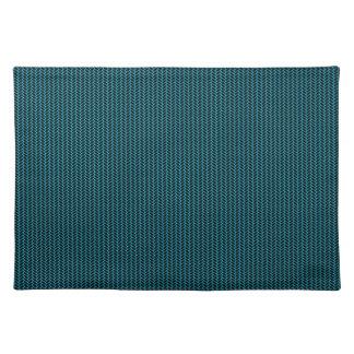 Blue texture placemat