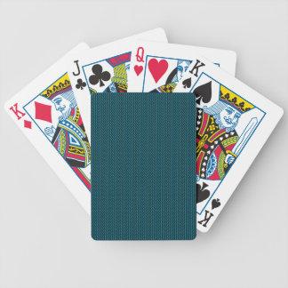 Blue texture poker deck