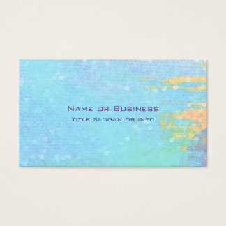 Blue Textured Background with Tiny White Hearts Business Card