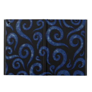 Blue Textured Swirls Cover For iPad Air