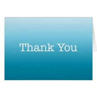 Blue Thank You Note American Typewriter Card
