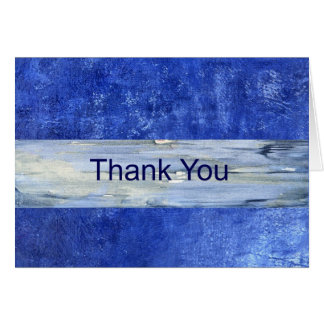 Blue Thank You Note Card