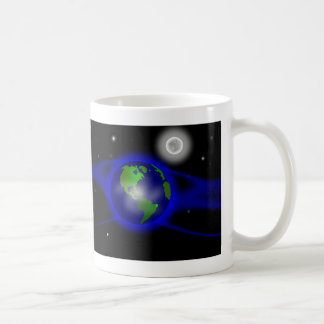 Blue Thank You Poem in Space Classic White Coffee Mug