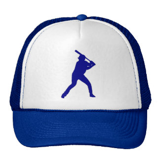 Blue theme baseball player simple hat