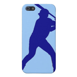 Blue theme baseball player simple iphone case iPhone 5 cover